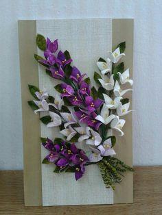 Paper Flower Patterns, Paper Flowers Diy, Felt Flowers, Fabric Flowers, Ribbon Crafts, Felt Crafts, Paper Crafts, Pearl Wedding Decorations, Wool Felt Fabric