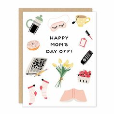 Happy Mom's Day Off Mother's Day Card – Neighborly Happy Mom Day, Happy Mother's Day Card, Happy Mothers Day, Diy Gifts For Mothers, Gifts For Your Mom, Mother Gifts, Mom Cards, Mothers Day Cards, Mother's Day Gift Card