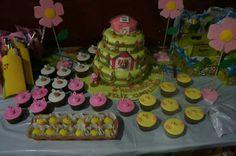 Torta, Cupcake y mazapan animales de la granja