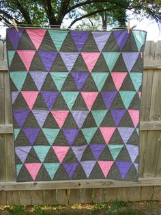 Grey Baby/Toddler Girl Quilt by MollyRoseQuilts on Etsy, $75.00