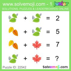 Solvemoji - Free teaching resources - Emoji math puzzle, great as a primary math starter, or to give your brain an emoji game workout. Math For Kids, Fun Math, Math Games, Funny Puzzles, Maths Puzzles, Maths Starters, Xmas Theme, Math Challenge, Kids Math Worksheets