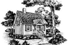 Cabins & Cottages Under 1,000 Square Feet: Eagle's Nest Plan #739