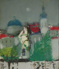 "Saatchi Art Artist HYZHY OLEH; Painting, ""town"" #art"