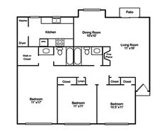 1000+square+foot+house+plans | 1000 Square Feet 3 Bedrooms 2 ...