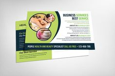 Check out Spa Beauty Postcard Template by Business Templates on Creative Market