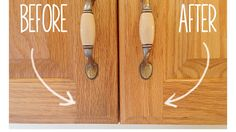 Kitchen cabinets can acquire a subtle but gross layer of grime over the years, but you can easily get rid of it with this simple DIY cleaning solution.   One Good Thing by Jillee suggests creating a mixture of one part vegetable oil and two parts baking soda. This should result in a thick paste that you can scrub deep into wooden cabinets with a toothbrush.