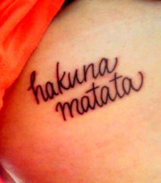 """it's means no worries for the rest of your days, it's a problem free philosophy...Hakuna Matata."""