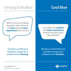 How sensing and intuition show up in Cool Blue Colour Energy blue color energy - Blue Things Leadership Types, Effective Leadership Skills, Leadership Training Programs, Personality Profile, Personality Types, Insights Discovery, Customer Insight, Working People, Core Values