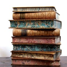 19th century leather bound books