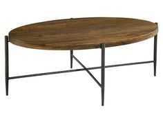 Hekman Furniture - Metal and Wood Oval Coffee Table - 2-7495