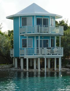 The Ocean Blue Oceanfront Bungalow at the Staniel Cay Yacht Club.  Yep this is where we'll be staying.