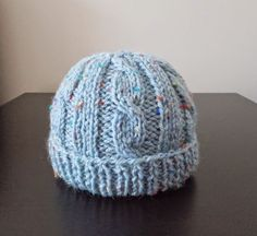 This is the cutest little cabled baby hat! cabled baby hat Top Tip - if you are new to cabling - then. Baby Boy Knitting Patterns Free, Baby Hat Patterns, Baby Hats Knitting, Free Knitting, Crochet Patterns, Knitting Ideas, Knitting Projects, Crochet Ideas, Sewing Projects