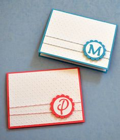 Handmade Monogrammed Note Card by SimplySarah31 on Etsy, $30.00 *This has been a huge seller...simple, yet elegant cards!  Makes a great gift or to have on hand to send a quick note!