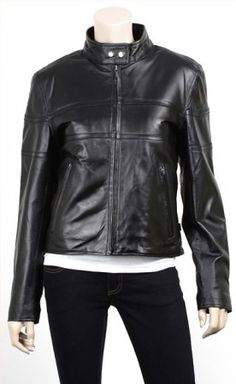 $159.00 - Leave your antagonists go openmouthed with your grace and brilliance you get when you sport this vintage style biker leather for women. Vintage motorcycle leather jacket for women has a full zip closure topped by a snapped erect collar and zipped cuffs awarding it a genuine biker jacket appearance.