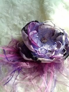 Lavender fantasy flower shades of pink and lavender by faeryfloral, $18.00