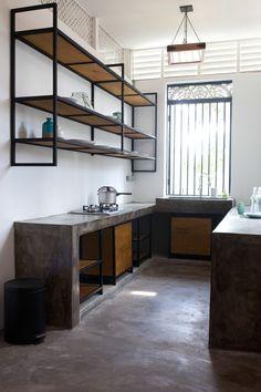 The Kitchen Photo credit: Afnan Omar Dirty Kitchen Design, Industrial Kitchen Design, Modern Kitchen Design, Kitchen Layout, Interior Design Kitchen, Dirty Kitchen Ideas, Küchen Design, House Design, Loft Kitchen