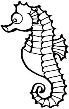 Friends Across America - Free Printable Coloring Page - Sea Horse