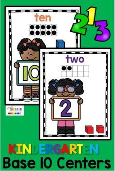 KINDERGARTEN BASE 10 units - math centers posters ten frames pictures numerals 0 - 10 up to 20 count to 10 count to 20 one to one correspondence counting Fun Base ten activities for math lessons and practice #kindergartenmath #kindergarten