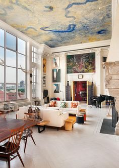 Dream no. 2 : Living in a New York loft appartment New York Loft, Ny Loft, Soho Loft, Home Design, Design Design, Design Trends, Interior Design New York, Design Room, Design Firms
