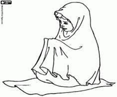 Indonesian children reading Quran coloring page Ramadan crafts