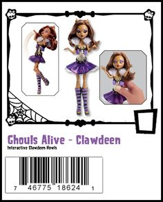 Clawdeen Wolf Ghouls Alive Wave 1 Monster High Doll - She makes howling sounds.