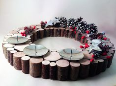 The Advent Wreath with Candles, Christmas Wreath
