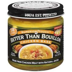 Superior Touch Better Than Bouillon: Made From Chicken Meat w/Natural Juices Chicken Base, 8 Oz