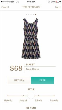 Please Please send this dress if you have it! Pixley Nola dress