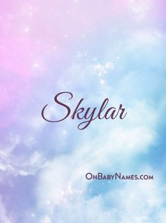 Freedom loving, Adventurous, Adaptable http://www.ohbabynames.com/meaning/name/skylar/2238 #babynames #skylar #breakingbad