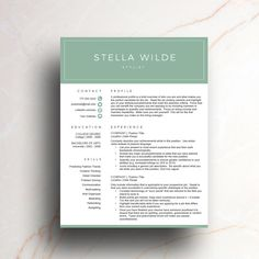 2 Page Resume Sample Stunning Professional Resume Template For Word 1 & 2 Page Resume Cover .