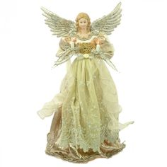The platinum sheen on this Angel Tree Topper is what makes it special