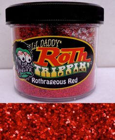 Roth metal flake huge 1lb tub ROTHRAGEOUS RED hot rod custom paint lil daddy #LILDADDYROTH