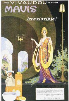 Vintage ad- reminds me of an Erte illustration.