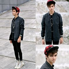 Shirt, Jack And J Ones T Shirt With Triangle, Asos Cap, Black Skinny, Lanvin Sneakers, Jack And Jones Tee