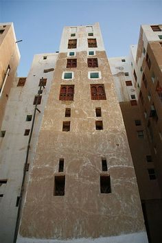 Old building in Shibam - Yemen  / Ethnic Global African Home Decor and Style / WWW.THEAFRICANTOUCH.COM