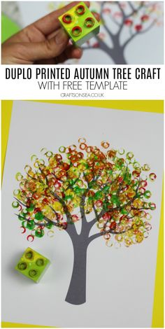 Autumn Tree Painting Ideas for Kids Duplo printed autumn tree crafts for kids Kids Crafts, Fall Crafts For Kids, Tree Crafts, Thanksgiving Crafts, Toddler Crafts, Art For Kids, Diy And Crafts, Christmas Crafts, Craft Projects