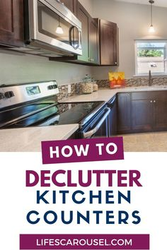 How to declutter kitchen countertops. Step-by-step guide to getting rid of counter clutter. it's truly life changing! Get an organized kitchen! Speed Cleaning, Household Cleaning Tips, Deep Cleaning Tips, House Cleaning Tips, Spring Cleaning, Cleaning Hacks, Cleaning Schedules, Organizing Your Home, Organizing Tips