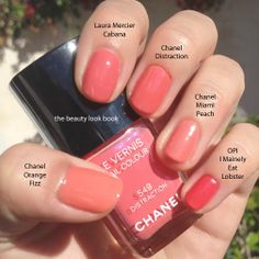 lovely corals - faces Chanel Distraction, LM Cabana, & OPI I Mainely Eat Lobster