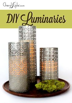 repurpose perforated aluminum radiator covers into stunning luminaries with this super simple DIY.