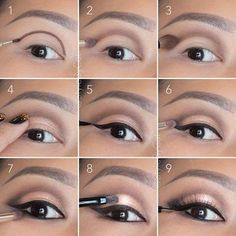 6 tutos make up inédits pour mettre vos yeux en valeur : Soft, rose gold, smokey eye tutorial. Good for hooded eyelids or monolids on Asian eyes. Products and instructions in the link. Contour Makeup, Eye Makeup Tips, Makeup Hacks, Skin Makeup, Makeup Products, Makeup Ideas, Makeup Brushes, Eyeliner Ideas, Makeup Remover