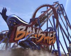 Banshee World's Longest Inverted Roller Coaster at Kings Island Amusement Park