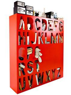 Alphabet book case