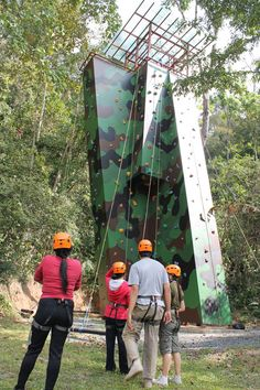 The Climbing Tower At Pang Soong Lodge Thailand Outdoor Education