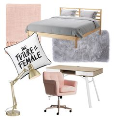 """""""❤️"""" by agaduchnicz-1 on Polyvore featuring interior, interiors, interior design, home, home decor, interior decorating, Nicole Miller, Surya, Modway and PBteen"""