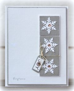 IC407 Frosty Flakes by Biggan - Cards and Paper Crafts at Splitcoaststampers