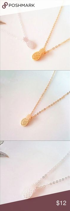 << Pineapple Necklace >> Small little token of your appreciation for the pineapple form  This necklace comes in both gold tone and silver tone Boutique Jewelry Necklaces