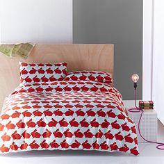 Anorak Kissing Rabbits Double Quiltset - Red, http://www.amazon.co.uk/dp/B00ELQ7YCQ/ref=cm_sw_r_pi_awdl_gIvfxb1DCBF1F