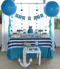 Cute whale party theme. Cake Pops, Desserts, Food, Tailgate Desserts, Cake Pop, Deserts, Eten, Cakepops, Postres