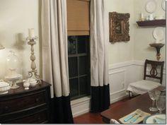 good curtain idea for dropcloth curtains