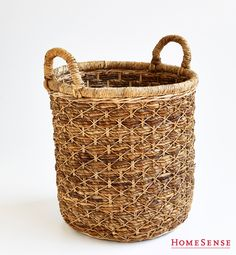 great basket for storage all kinds of things! Toy Storage, Storage Baskets, Homesense, Laundry In Bathroom, Throw Cushions, Favorite Holiday, My Dream Home, Interior Inspiration, Small Spaces